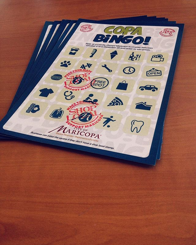 Copa Bingo! MCE has cards and stamps🏅😎 #shoplocal #maricopa #maricopaaz #entrepreneur #entrepreneurs #marketing #businessincubators